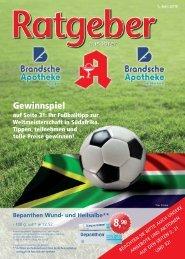 Gewinnspiel auf Seite 31: Ihr Fußballtipp zur ... - Brandsche Apotheke