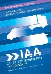 23.–30. SEPTEMBER 2010 IN HANNOVER - IAA - Internationale ...