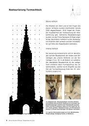Restaurierung Turmachteck - Berner Münster-Stiftung