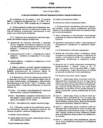 1 156 ROZPORZĄDZENIE MINISTRA INFRASTRUKTURY - POLBI
