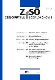 Zins und Wachstum - Zeitschrift für Sozialökonomie