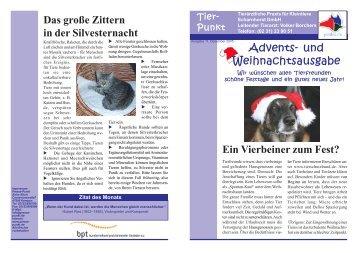 Ausgabe Dezember 2005 - Tierärztliche Praxis für Kleintiere ...