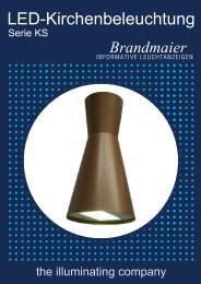Led-Kirchenbeleuchtung - Brandmaier · Informative Leuchtanzeigen