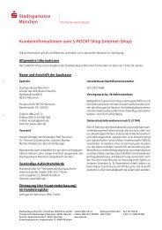 Kundeninformationen zum S-ROCKT-Shop - Stadtsparkasse München