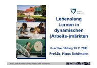 Lebenslang Lernen in dynamischen (Arbeits-) - Stifterverband für ...