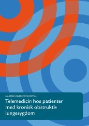 Telemedicin hos patienter med kronisk obstruktiv lungesygdom