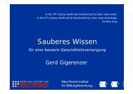 Sauberes Wissen - Ärztekammer Berlin