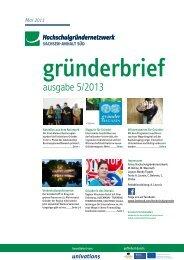 Newsletter Mai 2013 - Hochschulgründernetzwerk Sachsen-Anhalt ...