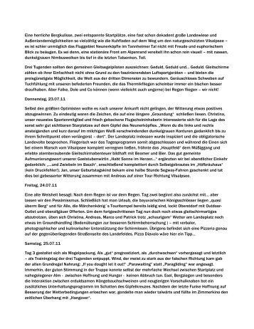 Bericht Tannheim lang - SG Stern Wörth/Germersheim