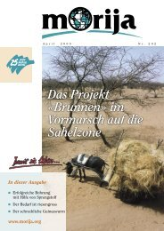 Das Projekt «Brunnen» im Vormarsch auf die Sahelzone - Morija