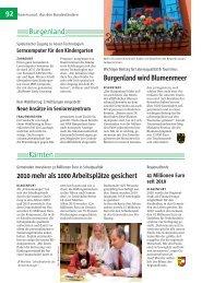 92 Kärnten Burgenland Burgenland wird Blumenmeer 2010 mehr ...