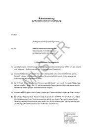 Muster Rahmenvertrag - fakultativ - normal 01.2013 - beim ARAG ...