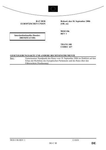 Link - Öffentliches Register der Ratsdokumente