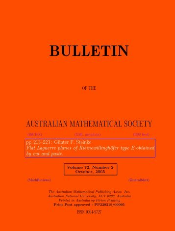 download PDF of this article - Australian Mathematical Society