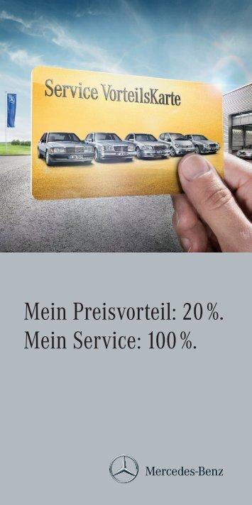 zu Ihrer Service Vorteilskarte - Mercedes Benz