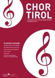 3. Ausgabe - Tiroler Sängerbund