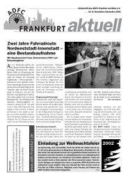 eine Bestandsaufnahme Einladung zur ... - ADFC Frankfurt