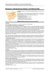 Botswana: Individualreise Kalahari und Viktoria-Fälle - Intakt-Reisen