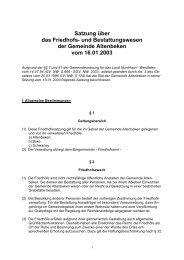Satzung über das Friedhofs- und Bestattungswesen - Gemeinde ...
