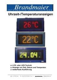 Uhrzeit-/Temperaturanzeigen (PDF 453 KB)
