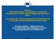 Vorstellung der Verordnungsentwürfe der Kommission zur Zukunft ...