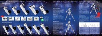Die Vielfalt der Messier-Optiken · The variety of the Messier OTAs ...