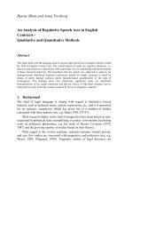 Bjarne Blom and Anna Trosborg An Analysis of Regulative Speech ...