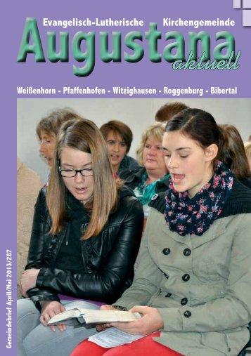 Gemeindebrief 287.pdf - Evang.-Luth. Kirchengemeinde Weißenhorn