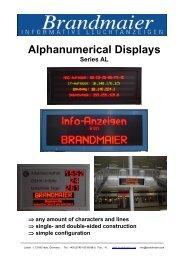 Alphanumerical Displays - Brandmaier · Informative Leuchtanzeigen