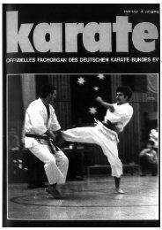 Deutsche Jugend- und Junioren-Meisterschaft - Chronik des Karate
