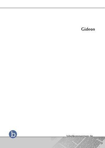 Gideon - Bibelkommentare.de