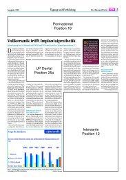 Vollkeramik und Implantologie - Arbeitsgemeinschaft Keramik