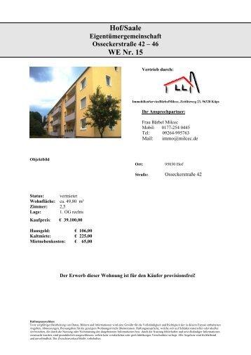 Hof/Saale WE Nr. 15 - Immobilien.de