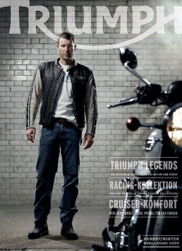 Katalog Triumph Bekleidung Herbst/Winter 2009 - Triumph Brandstore