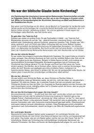 Kommentare aus biblischer Sicht zum 33. Deutschen Ev. Kirchentag ...