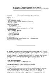 Protokoll der 29. GV vom 10.6.2005 - Fernseh Genossenschaft ...