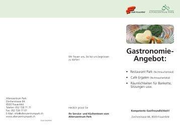 Gastronomie-Angebot [PDF, 125 KB] - Alterszentrum Park