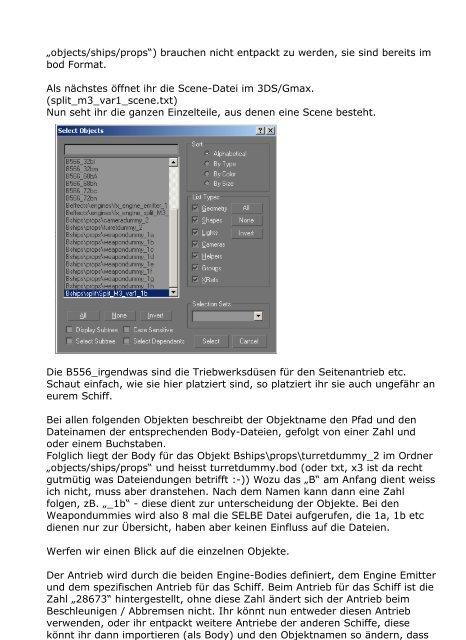 Schiff erstellen - X Database