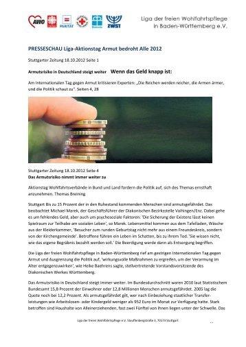 PRESSESCHAU Liga-Aktionstag Armut bedroht Alle 2012