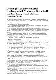 Veldhausen - Die Evangelisch-altreformierte Kirche in Niedersachsen