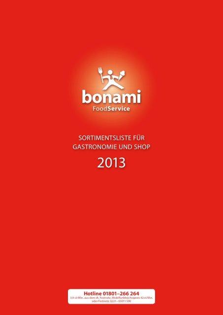 SortimentSliSte für GaStronomie und Shop - bei Bonami