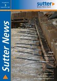 Sutter News, Ausgabe Nr. 3 (September 2007)
