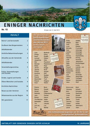 12. April 2013 - Eningen unter Achalm