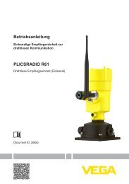 PLICSRADIO R61 - Drahtlose Empfangseinheit (Einkanal) - VEGA ...