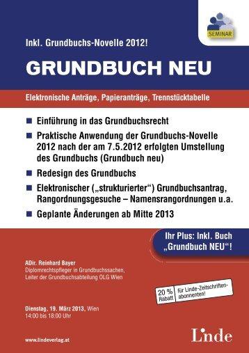 GRUNDBUCH NEU - Linde Verlag