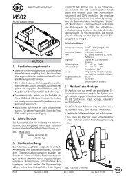 Benutzerinformation PDF (757 kB) - SIKO GmbH