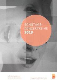 Konzertprogramm - Chorverband Berlin eV