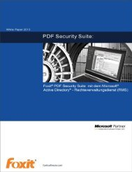 PDF Security Suite White Paper - Foxit