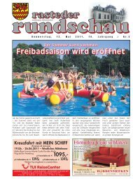 rasteder rundschau, Ausgabe Mai 2011