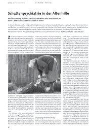 Schattenpsychiatrie in der Altenhilfe - Deutsche Gesellschaft für ...